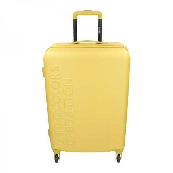 Cestovní kufr United Colors of Benetton Aura M - žlutá