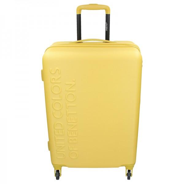 Cestovní kufr United Colors of Benetton Aura L - žlutá