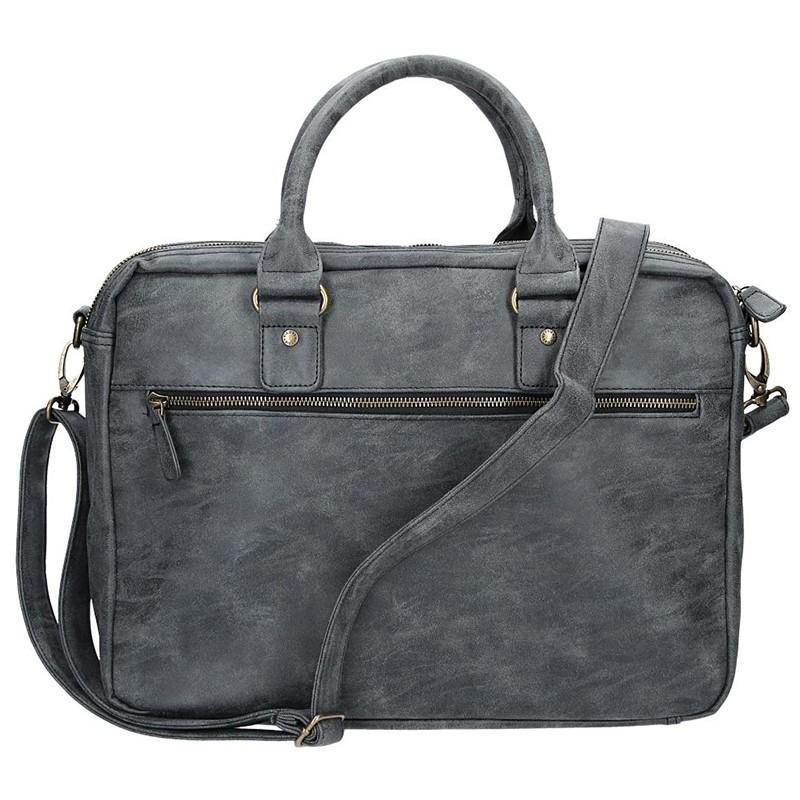 Pánská taška přes rameno Enrico Benetti Madrid - černo-šedá