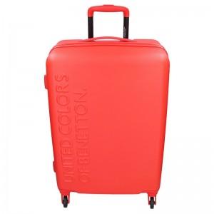 Sada 3 cestovních kufrů United Colors of Benetton Aura S,M,L - červená