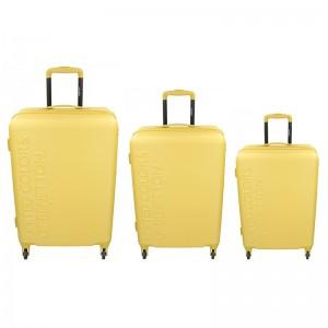Sada 3 cestovních kufrů United Colors of Benetton Aura S,M,L - žlutá