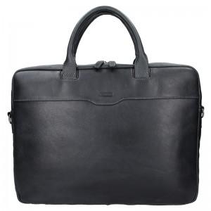 Dámská kožená taška na notebook Katana Evelin - černá