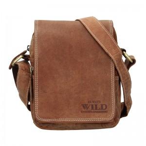 Pánská taška přes rameno Always Wild Ludvik - koňak