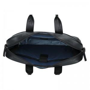 Pánská kožená taška přes rameno Bugatti Ceasar - černá