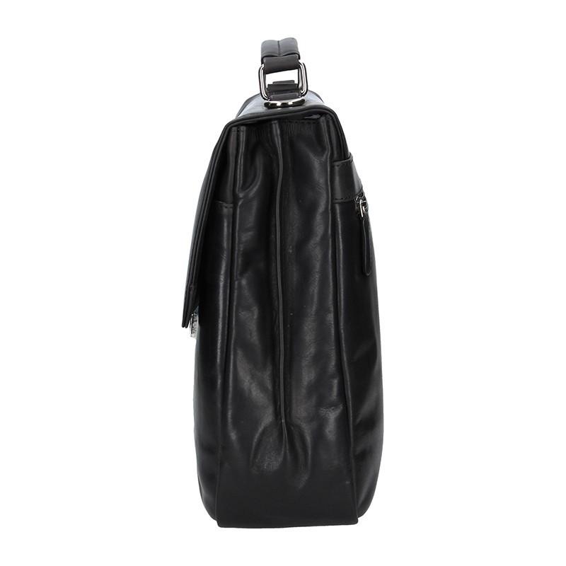 Luxusní pánská kožená aktovka Bugatti Trevor - černá