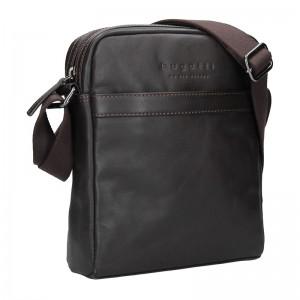 Pánská kožená taška přes rameno Bugatti Partier - hnědá