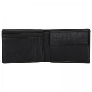 Pánská kožená peněženka Bugatti Oliver - černá