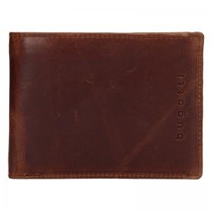 Pánská kožená peněženka Bugatti Oliver - hnědá