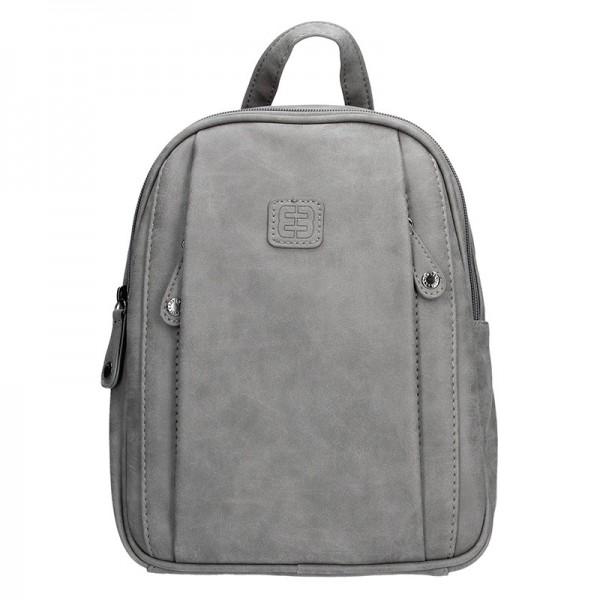 Moderní ekokožený dámský batoh Enrico Benetti 66169 - šedá