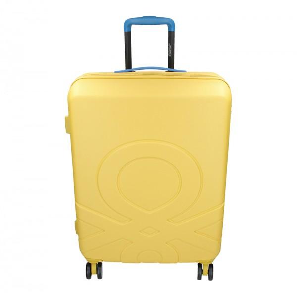 Cestovní kufr United Colors of Benetton Kanes M - žlutá