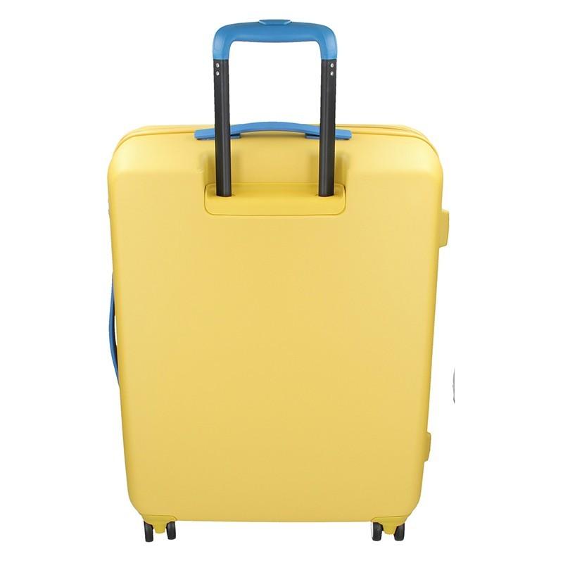 Cestovní kufr United Colors of Benetton Kanes L - žlutá