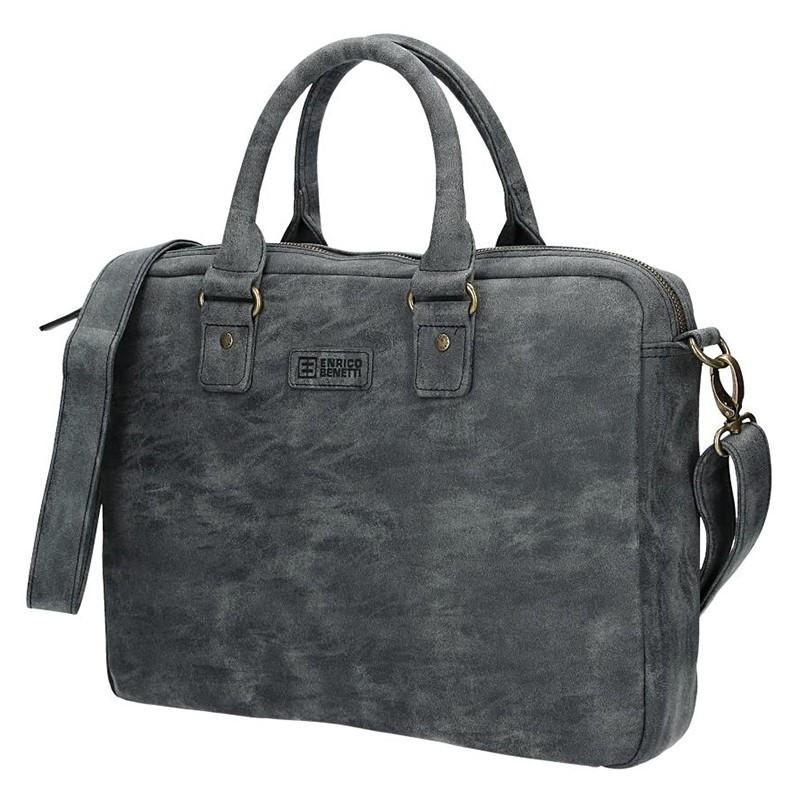 Pánská taška přes rameno Enrico Benetti Sevilla - černo-šedá