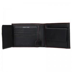 Pánská kožená peněženka Lagen Tobias - černo-červená