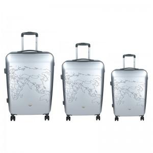 Sada 3 cestovních kufrů Ciak Roncato World S,M,L - šedá