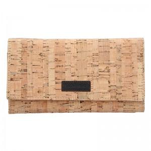 Dámská korková peněženka Lagen Zina - světle hnědá