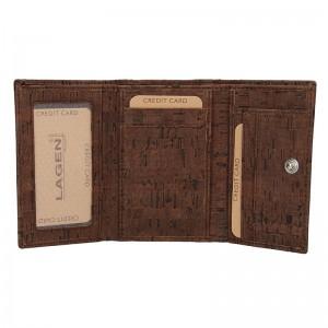 Dámská kožená peněženka Lagen Greta - tmavě hnědá
