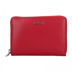 Dámská kožená peněženka Lagen Apolen - červená