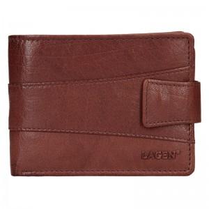 Pánská kožená peněženka Lagen Kevin - hnědá