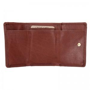 Dámská kožená slim peněženka Lagen Mellba - hnědá