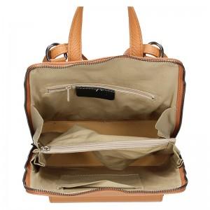 Kožený dámský batoh Unidax Malva - camel
