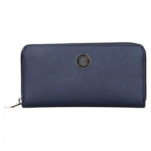 Dámská peněženka Tommy Hilfiger Eva - tmavě modrá