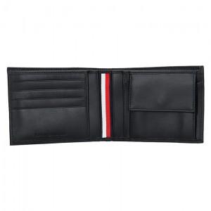 Pánská kožená peněženka Tommy Hilfiger Levron - černá