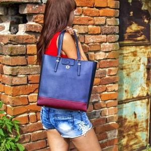 Dámská kabelka Tommy Hilfiger Beáta - modro-červená
