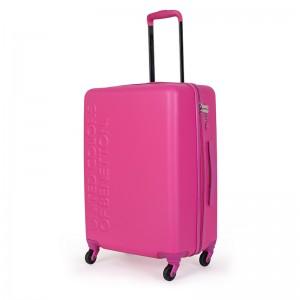 Cestovní kufr United Colors of Benetton Timis L - růžová