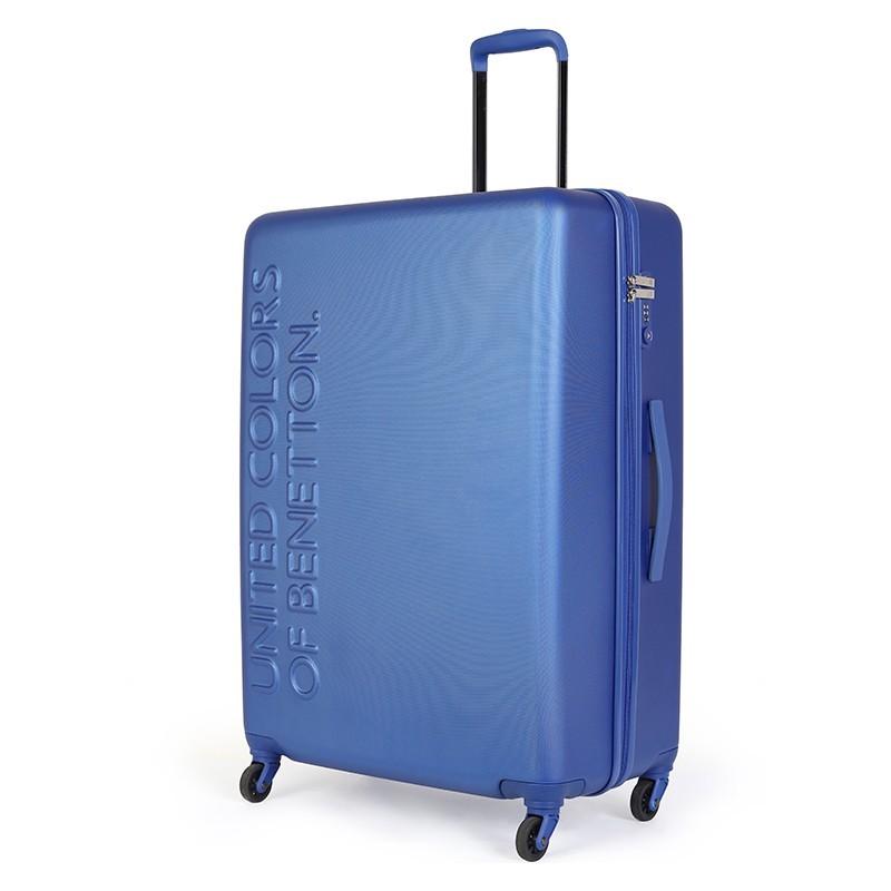 Cestovní kufr United Colors of Benetton Timis L - modrá