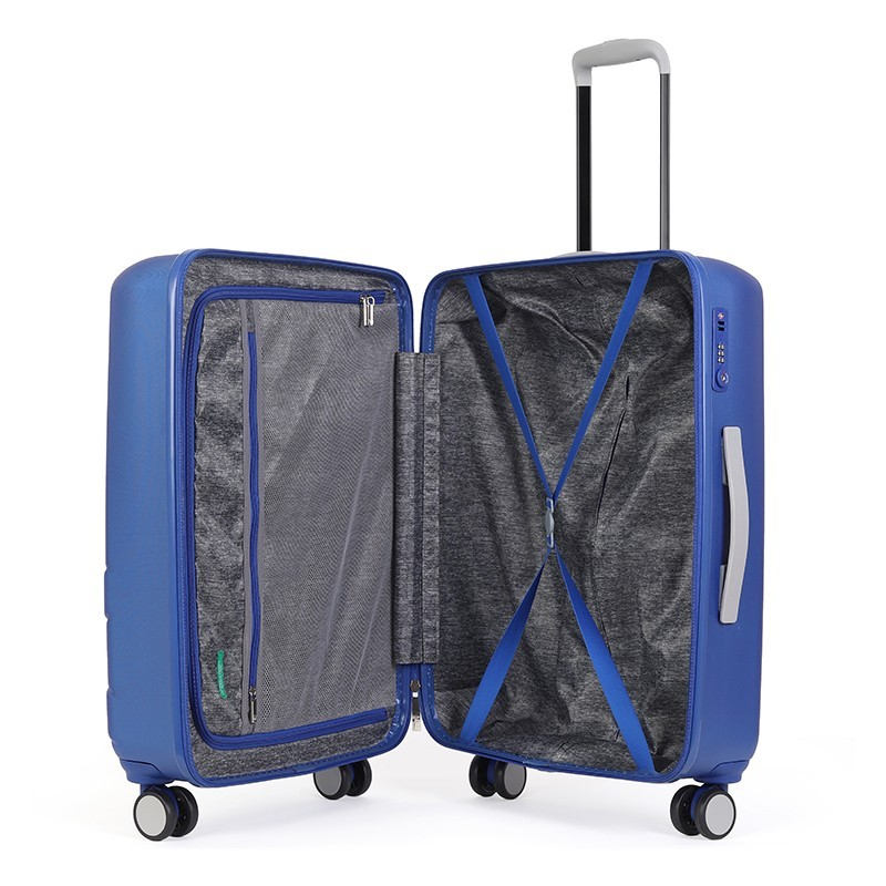 Cestovní kufr United Colors of Benetton Kanes M - modrá