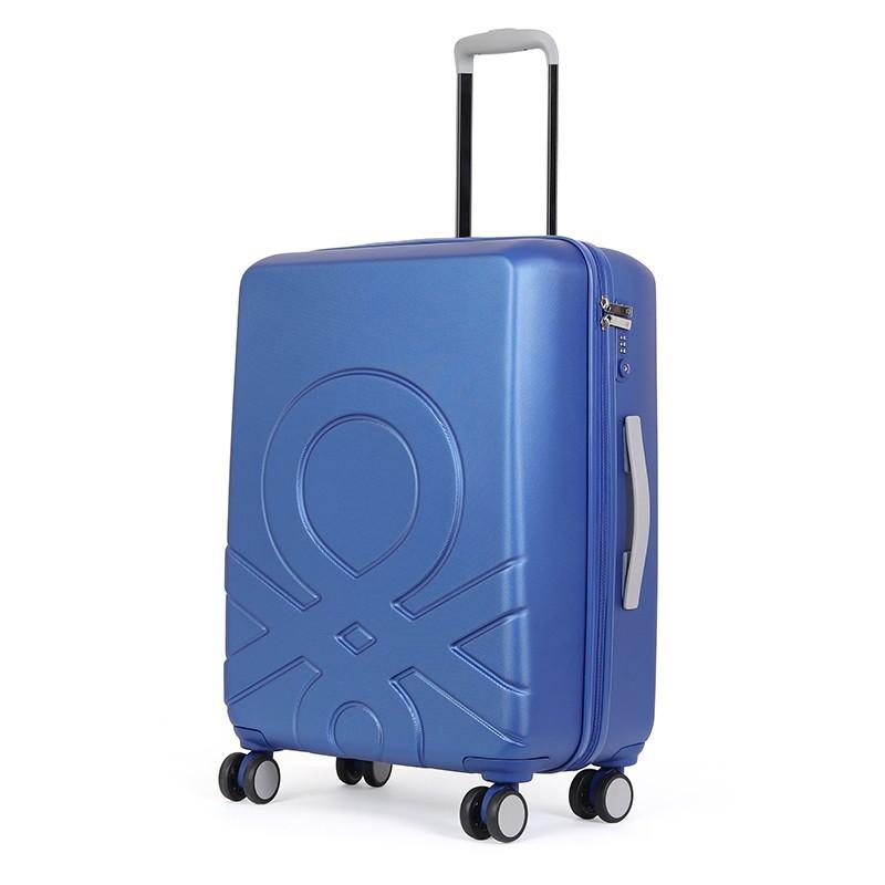 Cestovní kufr United Colors of Benetton Kanes L - modrá