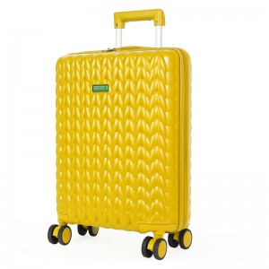 Kabinový cestovní kufr United Colors of Benetton Rider S - žlutá
