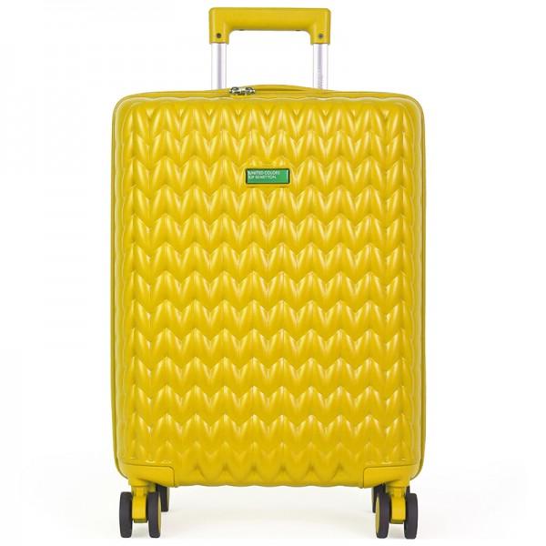 Cestovní kufr United Colors of Benetton Sider M - žlutá