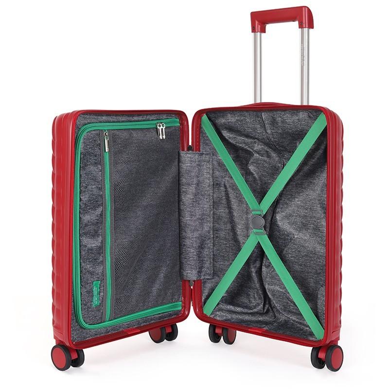 Kabinový cestovní kufr United Colors of Benetton Rider S - vínová