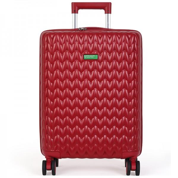 Cestovní kufr United Colors of Benetton Rider M - vínová