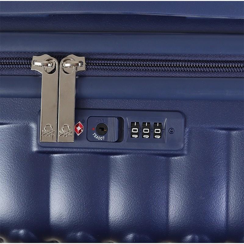 Cestovní kufr United Colors of Benetton Rider M - modrá
