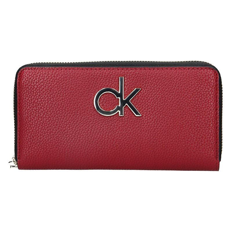 Dámská peněženka Calvin Klein Fiora - vínová