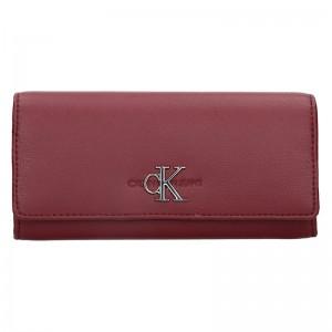 Dámská peněženka Calvin Klein Brenda - vínová