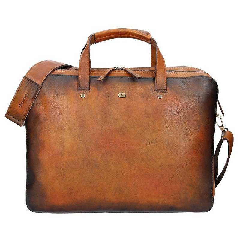 86ddce84f3 Luxusní pánská kožená taška Daag ALIVE 18 - hnědá