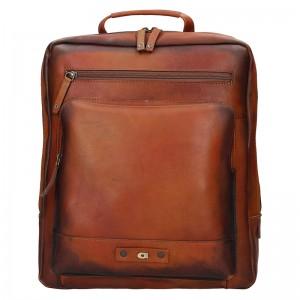 Pánský kožený batoh Daag Alive 13 - hnědá
