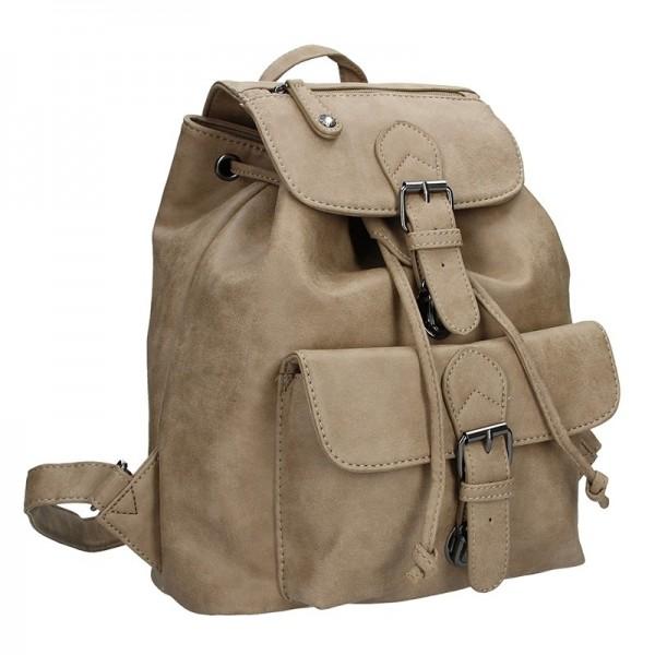Moderní dámský batoh Enrico Benetti 66194 - světle hnědá