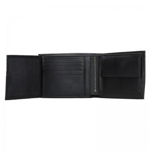 Pánská kožená slim peněženka Calvin Klein Manze - černá