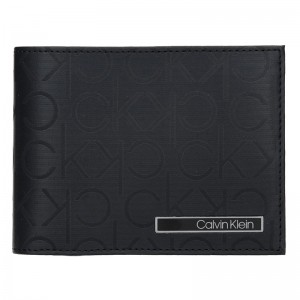 Pánská kožená slim peněženka Calvin Klein Fredy - černá