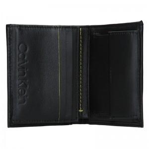 Pánská kožená peněženka Calvin Klein Hopper - černá