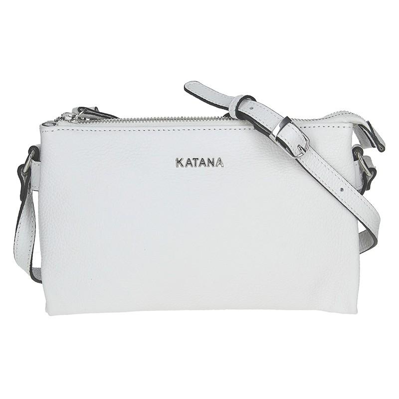 Kožená dámská crosbody kabelka Katana Elisn - bílá