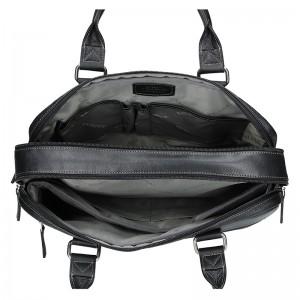 Pánská kožená taška přes rameno Katana Toronto - černá