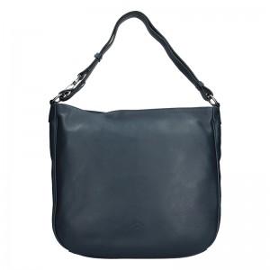 Elegantní dámská kožená kabelka Katana Jindra - tmavě modrá