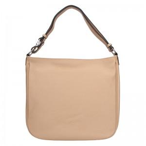 Elegantní dámská kožená kabelka Katana Jindra - pudrová