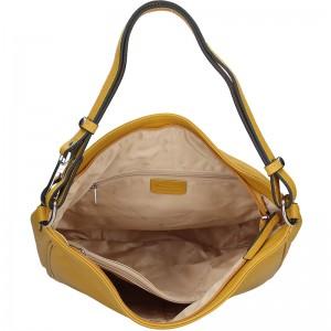 Elegantní dámská kožená kabelka Katana Jindra - žlutá