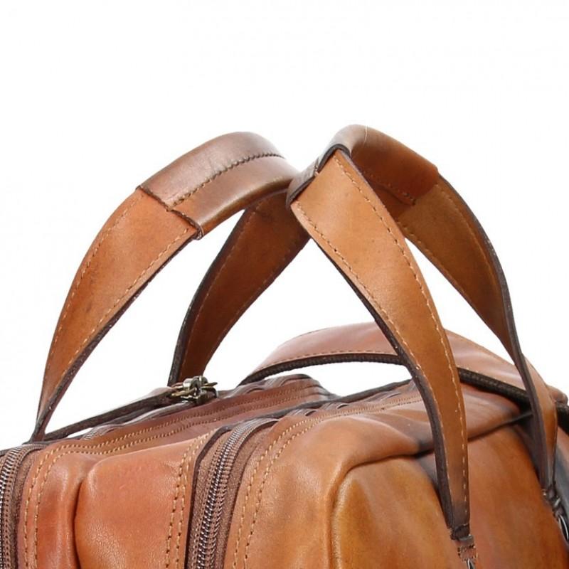 Luxusní pánská kožená taška Daag ALIVE 18 - hnědá